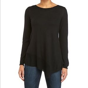 Joan Vass Cashmere Blend Pullover Sweater Black